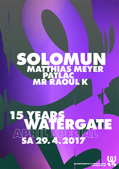 15 years Watergate pres.: Solomun