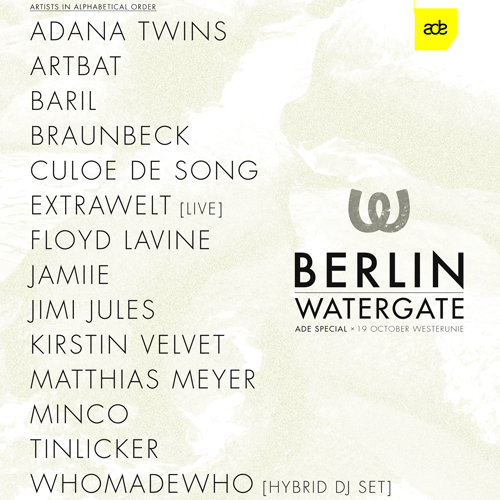 10 Years Of Watergate Records at ADE 2019